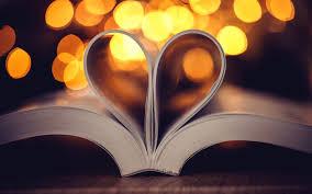 تحميل خلفيات الإبداعية القلب صفحات من الكتب ورقة حب القراءة