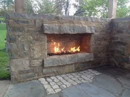 outdoor fireplace burner system natural
