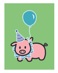 Pig Birthday Card Con Imagenes Imagen Feliz Cumpleanos