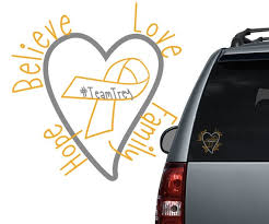 Childhood Brain Cancer Car Decal Support Cancer Etsy