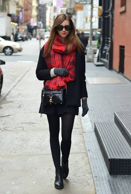 Winter black coat