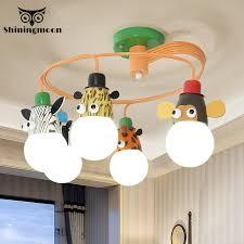 Cartoon Led Children Chandelier Lighting Boys Bedroom Kids Room Hanging Lamp Animal House Decoration Hanging Lights Luminaria Chandeliers Aliexpress