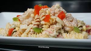 CRAB AND SHRIMP PASTA SALAD