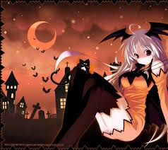 anime halloween anime 1600x wallpaper
