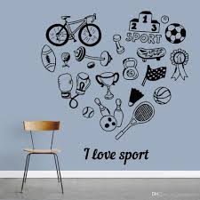 I Love Sport Wall Sticker Boys Room Bowling Tennis Bicycle Vinyl Wall Decal Exercise Room Home Decor For Living Room Vinyl Wall Decal Vinyl Wall Decals From Joystickers 14 24 Dhgate Com