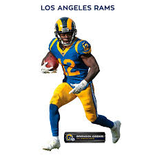 Fathead Brandin Cooks Los Angeles Rams 3 Pack Life Size Removable Wall Decal