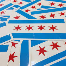 Chicago Flag Decal Rep Chi
