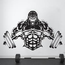 Mega Sale 0958 Gym Wall Decal Custom Fitness Decor Workout Art Vinyl Sticker Gorilla Gym Quote Stickers Motivation Crossfit Logo A732 Cicig Co