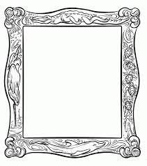 picture frame coloring page coloring home