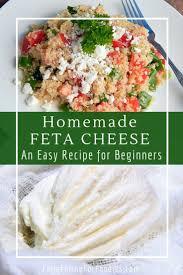 simple homemade feta cheese