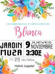 Invitacion Flores Cumpleanos Invitaciones Cumpleanos Fiesta