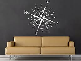 Amazon Com Wall Decal Vinyl Sticker Decals Compass Rose Nautical Decor Compass Navigate Ship Ocean Sea Living Room Home Decor Art Bedroom Design Interior Home Kitchen