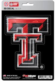 Sports Licensing Solutions Texas Tech Red Raiders 5x7 Inch 3d Auto Decal Red 13850178