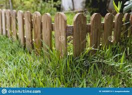Small Wooden Fence In A Garden Stock Photo Image Of Design Outdoor 169286914