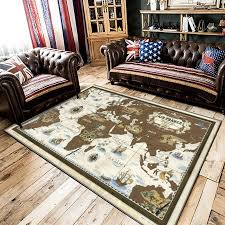World Map Printed Area Rugs Bedroom Kids Play Crawling Floor Mat Creative Children Learning World Living Room Home Decor Carpets Carpet Aliexpress