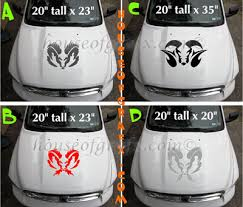 Custom Designed Ram Hood Window Decal Decals Graphics Sticker 15 Hood 36 00 House Of Grafx Your One Stop Vinyl Graphics Shop