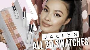 all 20 swatches of jaclyn hill power