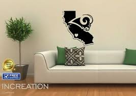 Los Angeles Rams Wall Decal Home Decor Vinyl Sticker Mural Graphics Football La Ebay