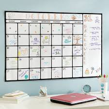 Dry Erase Calendar Decal Wall Organizers Pottery Barn Teen