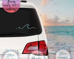 Wave Car Decal Etsy