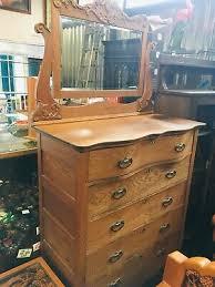 antique oak gentleman s dresser with