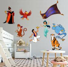 Aladdin Super Set Wall Sticker Decal Diy Mural Disney Jasmine Genie Wc343 Ebay
