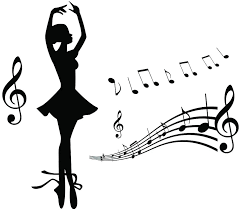 Amazon Com Home Find Girls Dancing Wall Decals Girls Ballet With Music Notes Silhouette Peel And Stick Diy Art Design Murals Home Decor For Girls Rooms Dance Rooms Stickers 17 7 Inches X 15 7