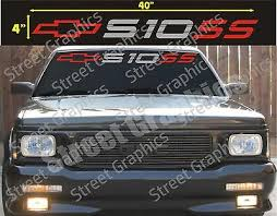 Chevy S10 Windshield Vinyl Decal Sticker Ebay