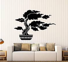 Amazon Com Firstdecals Vinyl Wall Decal Bonsai Tree Nature Japanese Asian Style Stickers Large Decor 1599lk Home Kitchen
