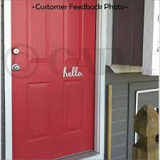Hello Front Door Vinyl Lettering Removable Decal Sticker 4 H X 8 W White Walmart Com Walmart Com