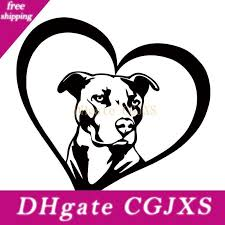 2020 New Style For Pitbull Heart Vinyl Decal Car Styling Sticker Car Window Bumper Jdm I Love My Dog Rescue Accessories Graphics From Faone23 3 64 Dhgate Com