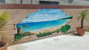 Pin By Amber Dow On Sinaries For Window Beach Wall Murals Garden Mural Wall Murals Painted