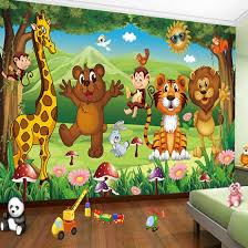 Shop Custom 3d Photo Mural Wallpaper For Kids Room Animal Paradise Cartoon Children House Mural Non Woven Bedroom Wallpaper Painting Online From Best Wall Stickers Murals On Jd Com Global Site Joybuy Com
