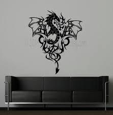 Dragon Tribal Image Vinyl Wall Decal Wall Art Dragon Wall Art Dragon Decor Decal Wall Art