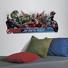 Roommates Avengers Assemble Personalization Headboard Peel And Stick Wall Decals Multicolor Decorative Wall Appliques Amazon Com