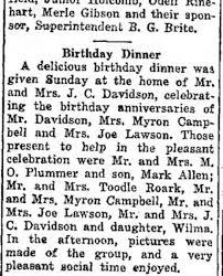 Jesse & Rosa Davidson, Wilma Davidson, Ruth Davidson Plummer, Ila Davidson  Roark - Newspapers.com