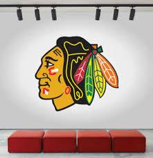 Chicago Blackhawks Logo Wall Decal Ice Hockey Sports Vinyl Sticker Nhl Cg203 Ebay