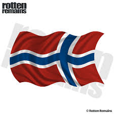 Norway Waving Flag Decal Norwegian Nordic Car Vinyl Sticker Lh Rotten Remains High Quality Stickers Decals