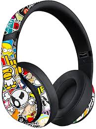 Amazon Com Custom Skin Decal For Beats Studio3 Wireless Beats By Dre Decal Only Device Is Not Included Vinyl Wrap Protective Sticker By Vcg Customs Sticker Bomb Computers Accessories