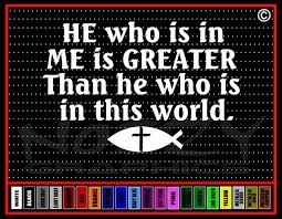 He Who Is In Me Is Greater Christian Vinyl Car Sticker Decal Noizy Graphics Christian Apparel Decals Frames More