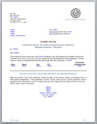 motor vehicle registration renewal