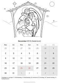 Kalender December 2019 Nederland