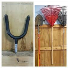 tool hooks to hang rakes shovels