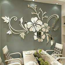 Flower 3d Mirror Wall Stickers Removable Decal Wall Art Mural Home Bedroom Decor For Sale Online