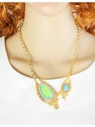 unique style big stone pendant necklace
