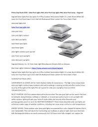 Ppt Prime Day Deals 2018 Solar Post Lights 4x4 Solar Post Cap Lights 4x4 Solar Post Lamp Sogrand Powerpoint Presentation Id 7992295