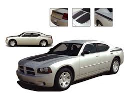 Chargin 1 Dodge Charger H O Hood Vinyl Graphics And Side Decals Stripes Kit Fits 2006 2010 Moproauto Professional Vinyl Graphics And Striping