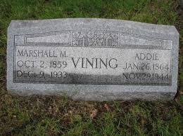 VINING, ADDIE - Harrison County, Iowa | ADDIE VINING - Iowa Gravestone  Photos