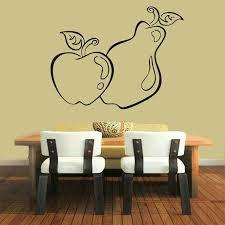 Shop Apple Fruits Kitchen Decor Cafe Vinyl Pear Sticker Home Interior Design Living Room Decor Sticker Decal Size 44x52 Color Black Overstock 14755356