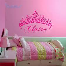 Custom Name Princess Sleeps Here Nursery Vinyl Wall Art Sticker Crown Wall Decal For Children Girls Room Bedroom Door Decor Buy At The Price Of 5 59 In Aliexpress Com Imall Com